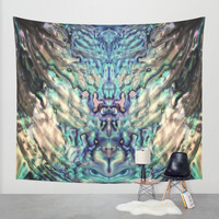 MERMAIDS SECRET Wall Tapestry by Monika Strigel