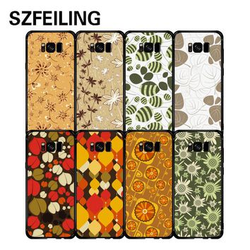 mobile phone shell For Samsung Galaxy S8 case Super thin Soft TPU 3D Painting flower Fitted Black matte Back cover for galaxy s8