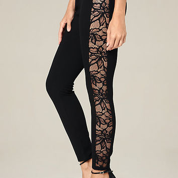 PETITE LACE TUX LEGGINGS