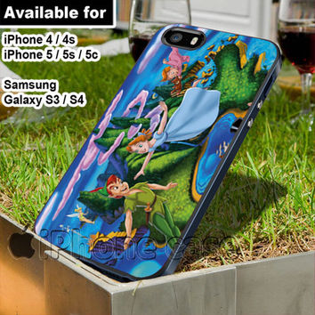 peter pan and wendy disney best picture WN for iPhone 4 / 4s / 5 / 5s / 5c case, Samsung Galaxy S3 / S4 case