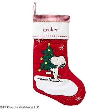 Snoopy® Quilted Stocking