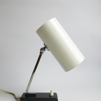 Vintage Table Lamp / Bedside Lamp / 70s Lighting / White lamp/ Minimalist