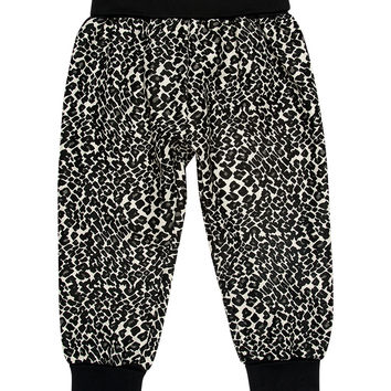 Kardashian Kids Printed Roomy Style Pants with Rib Roll Waist & Cuffs
