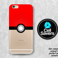 Red Pokeball iPhone 6s Case iPhone 6 Case iPhone 6 Plus iPhone 6s Plus iPhone 5c iPhone 5 iPhone SE Case Pokemon Go Team Valor Pokeball Red