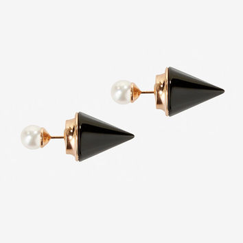 VITA FEDE TITAN ONYX STONE PEARL EARRINGS