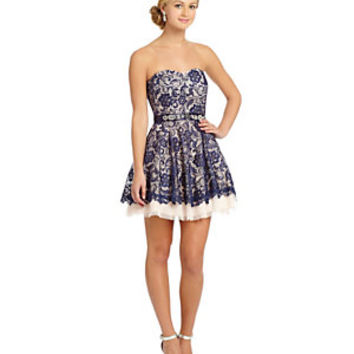 B. Darlin 2-Tone Lace Party Dress | Dillard's Mobile