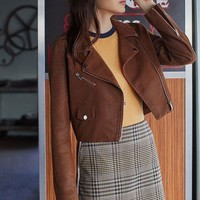 ONETOW UO Faux Suede Moto Jacket | Urban Outfitters