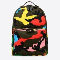 Valentino Online Boutique - Valentino Men Nylon Camouflage Backpack
