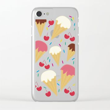 Ice Cream Cones Clear iPhone Case by UMe Images