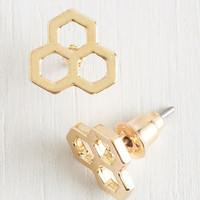 Quirky Honeycomb by It Naturally Earrings by ModCloth