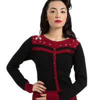 Voodoo Vixen Peggy Sue Bowling Cardigan Sweater