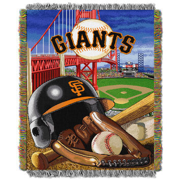 "SF Giants  """"Home Field Advantage"""" 48x60 Tapestry Throw"