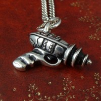 Handmade Gifts | Independent Design | Vintage Goods Raygun Necklace - Silver - New Arrivals