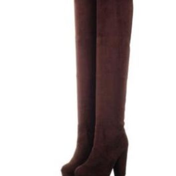 Over the Knee Thigh High Boots up to Size 9 (26.5cm EU 43)