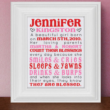 Personalized Children's Keepsake Count by TheStationerySisters