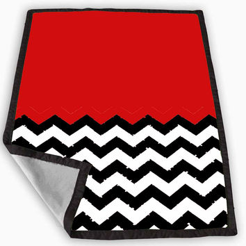 Welcome to Twin Peaks Chevron Blanket for Kids Blanket, Fleece Blanket Cute and Awesome Blanket for your bedding, Blanket fleece *
