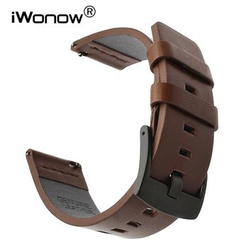 Italy Oil Leather Watchband for Hamilton Mido Longines Tissot Luminox Quick Release Watch Band Wrist Strap 18mm 20mm 22mm 24mm
