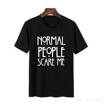 Normal People Scare Me Graphic Tee Shirt