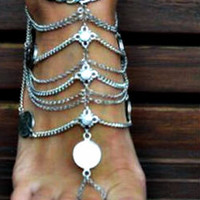 Fringe and Coin Anklet