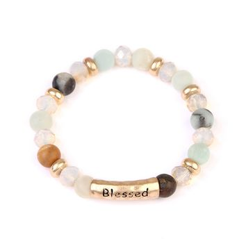 Blessed Bar Multibeaded Bracelet