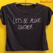 Let be alone Fall out boy shirt FOB shirt Fall out boy tank tunic Let's be alone together Tshirt Woman'Clothing size S M L