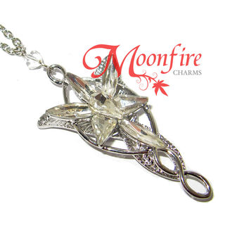 THE RING FELLOWSHIP Elven Princess Crystal Necklace
