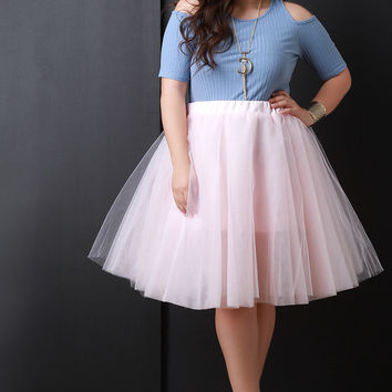 Tutu Tulle A-Line Skirt - White, Pink or Mint