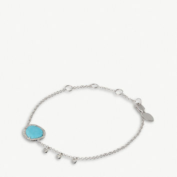 THE ALKEMISTRY Meira T 14ct white gold, turquoise and diamonds bracelet