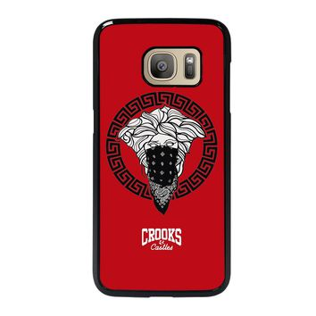 CROOK AND CASTLES BANDANA RED Samsung Galaxy S7 Case