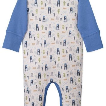 Sailor Sleeve Romper (Beaver on White) by Feather Baby