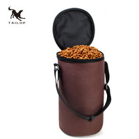 TAILUP High Ending Oxford Waterproof Food Bag Dog Feeders Travel Bowls Dry Food Container