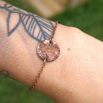 Moon or Planet Anklet Bracelet