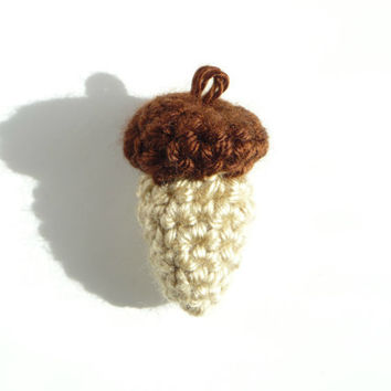 Acorn Charm Acorn Necklace Velvet Acorn Caps Acorn Earrings Felted Acorns Acorn Jewelry Acorn Pendant Acorn Box Acorn Bracelet Amigurumi