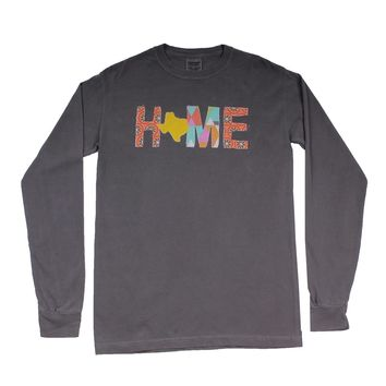 Texas Home Long Sleeve Tee in Gray by Southern Roots