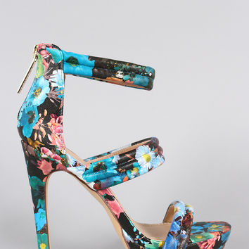 Liliana Cool Floral Open Toe Heel