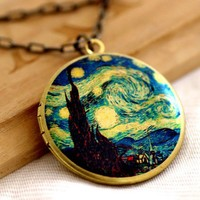 The Starry Night art paint Image by Vincent van Gogh by ashita
