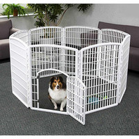 "Walmart: Iris 8-Panel Indoor/Outdoor Pet Pen, 63""Wx63""Lx34H"", White"