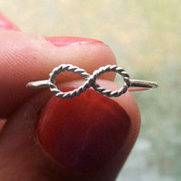 Sterling Silver Infinity Stacking Ring, Forever Ring