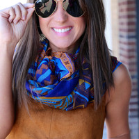 Tribal Scarf {Royal Blue}