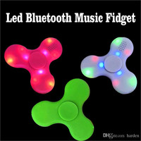2017 fidget Led Bluetooth Music Fidget Cube Spinner Finger HandSpinner EDC Hand Tri Spinner HandSpinner EDC Plastic Toy For Decompression