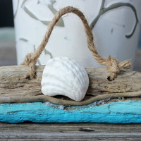 Unique Driftwood and Seashell Coastal Ornament , Beach Themed Tree Ornaments ,