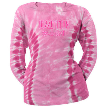 Led Zeppelin - Logo Tie Dye Juniors Long Sleeve T-Shirt