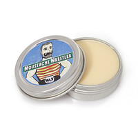 Moustache Wrestler Original Styling Wax Silver One