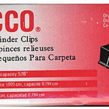 ACCO Binder Clips (3-4 In.) - CASE OF 9