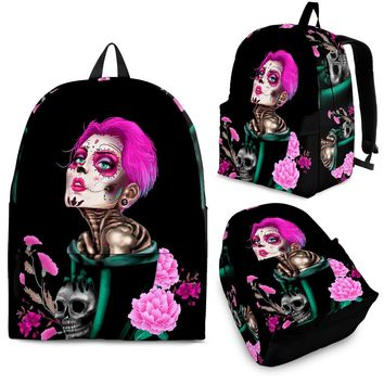 Candy Skull Lady Backpack