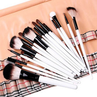 Tools Wool Plaid Stylish Hot Sale Make-up Brush Set [4918365956]