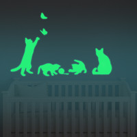 Luminous Cat Stickers