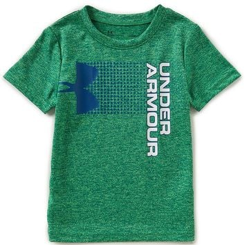 Under Armour Little Boys 2T-7 Hybrid Big Logo Short-Sleeve Tee | Dillards