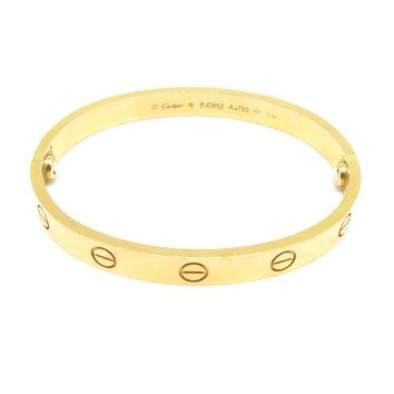Cartier Love Bracelet Bangle#16 18K Rose Gold 2347