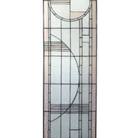 15 Inch W X 54 Inch H Arc Deco Right Sided Stained Glass Window